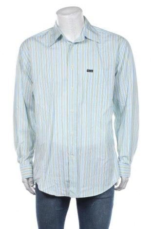 Мъжка риза Faconnable, Размер L, Цвят Многоцветен, Памук, Цена 85,79лв.