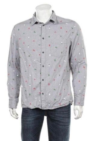 Мъжка риза H&M Divided, Размер L, Цвят Сив, 100% памук, Цена 19,50лв.