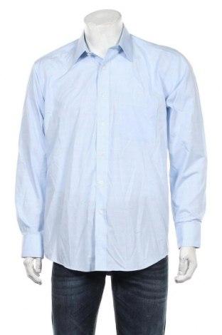 Cămașă de bărbați Marks & Spencer, Mărime XL, Culoare Albastru, 55% bumbac, 45% poliester, Preț 59,85 Lei