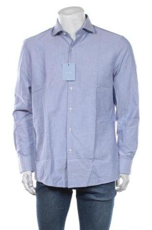 Мъжка риза Pierre Cardin, Размер L, Цвят Син, Памук, Цена 72,27лв.
