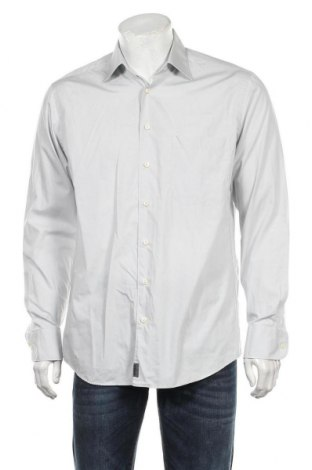 Мъжка риза Strellson, Размер M, Цвят Сив, Памук, Цена 33,75лв.