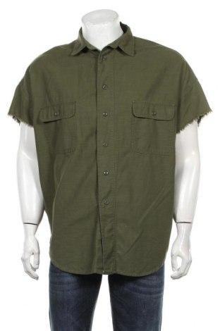 Ανδρικό πουκάμισο Zara Man, Μέγεθος M, Χρώμα Πράσινο, Βαμβάκι, Τιμή 21,03€