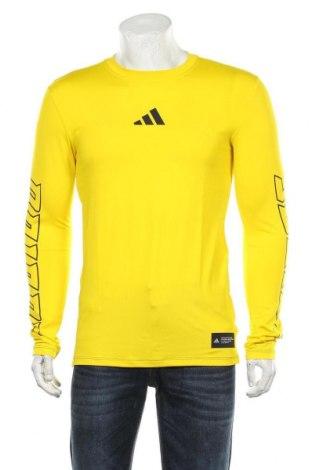 Мъжка спортна блуза Adidas, Размер S, Цвят Жълт, 91% полиестер, 9% еластан, Цена 31,50лв.