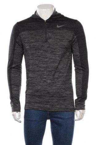 Мъжка спортна блуза Nike, Размер M, Цвят Сив, 65% полиамид, 21% полиестер, 14% еластан, Цена 44,10лв.