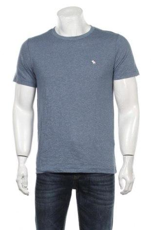 Мъжка тениска Abercrombie & Fitch, Размер M, Цвят Син, 60% памук, 40% полиестер, Цена 65,10лв.