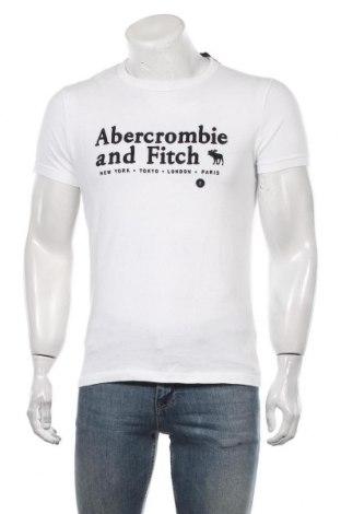 Мъжка тениска Abercrombie & Fitch, Размер S, Цвят Бял, Памук, Цена 60,90лв.