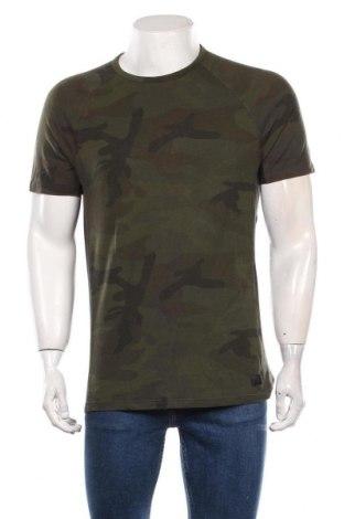 Мъжка тениска Abercrombie & Fitch, Размер M, Цвят Зелен, 73% памук, 21% полиестер, 6% еластан, Цена 21,00лв.