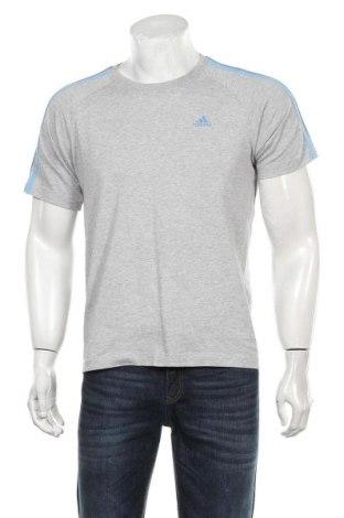 Мъжка тениска Adidas, Размер S, Цвят Сив, 70% памук, 30% полиестер, Цена 21,00лв.