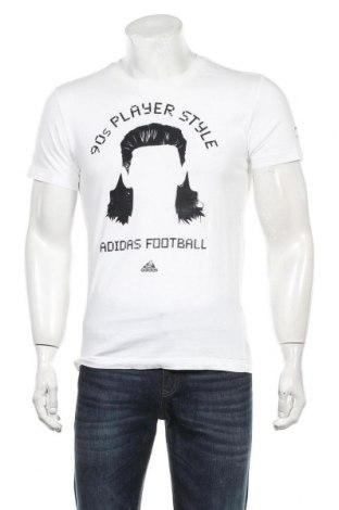 Мъжка тениска Adidas, Размер S, Цвят Бял, Памук, Цена 29,00лв.