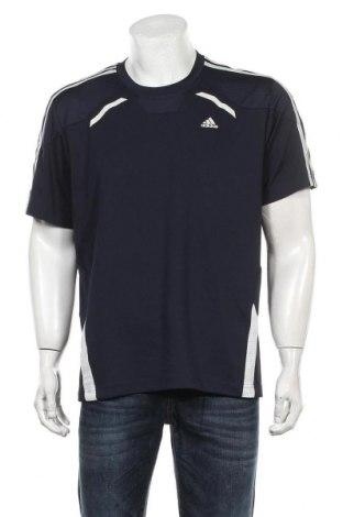 Мъжка тениска Adidas, Размер L, Цвят Син, Полиестер, Цена 27,00лв.