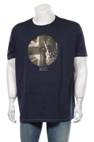 Tricou de bărbați Ben Sherman, Mărime XXL, Culoare Albastru, Bumbac, Preț 113,49 Lei