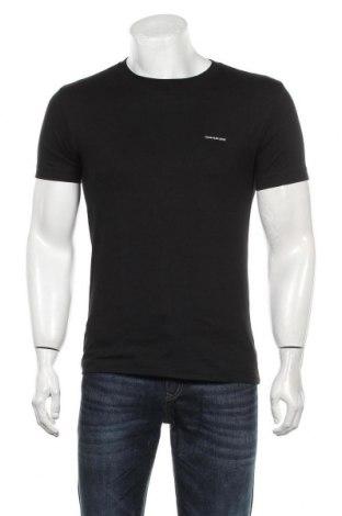 Мъжка тениска Calvin Klein Jeans, Размер S, Цвят Черен, Памук, Цена 75,60лв.