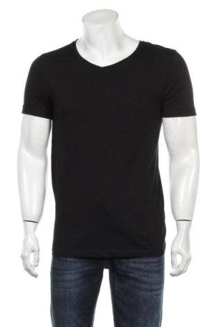 Мъжка тениска Core By Jack & Jones, Размер M, Цвят Черен, Памук, Цена 42,00лв.