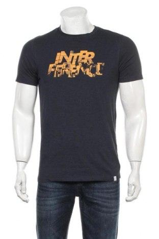 Мъжка тениска Core By Jack & Jones, Размер M, Цвят Син, Памук, Цена 28,00лв.