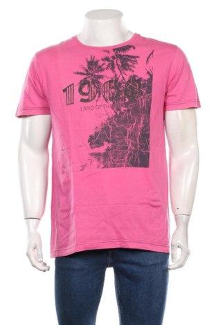 Мъжка тениска Esprit, Размер L, Цвят Розов, Памук, Цена 18,90лв.