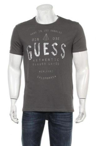 Мъжка тениска Guess, Размер L, Цвят Сив, 94% памук, 6% еластан, Цена 29,00лв.