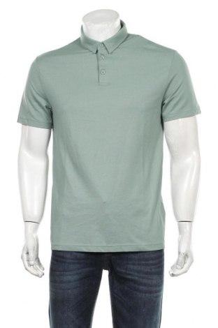 Мъжка тениска H&M, Размер M, Цвят Зелен, 52% памук, 48% полиестер, Цена 28,00лв.
