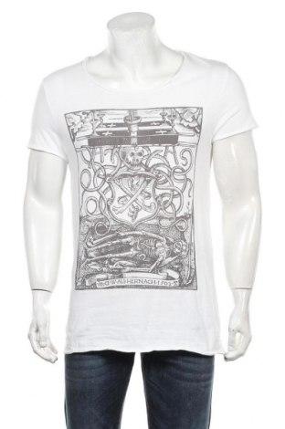 Мъжка тениска H&M Divided, Размер S, Цвят Бял, Памук, Цена 18,00лв.