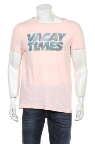 Мъжка тениска H&M Divided, Размер S, Цвят Розов, Памук, Цена 18,00лв.
