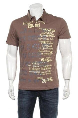Мъжка тениска Key Largo, Размер L, Цвят Кафяв, 92% памук, 8% еластан, Цена 23,00лв.