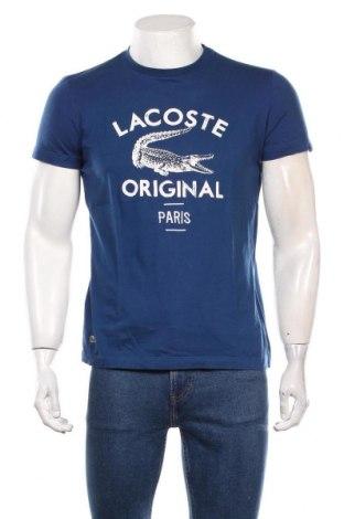 Мъжка тениска Lacoste, Размер S, Цвят Син, Памук, Цена 31,50лв.