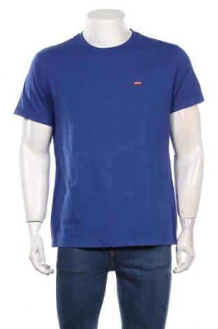 Мъжка тениска Levi's, Размер L, Цвят Син, Памук, Цена 58,00лв.