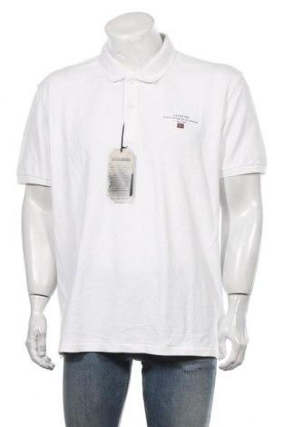 Мъжка тениска Napapijri, Размер 3XL, Цвят Бял, Памук, Цена 93,45лв.