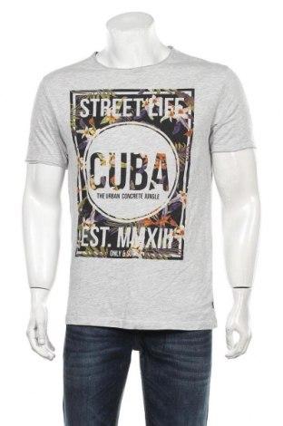 Мъжка тениска Only & Sons, Размер L, Цвят Сив, 95% памук, 5% вискоза, Цена 18,90лв.
