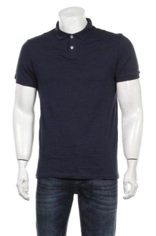Мъжка тениска Pier One, Размер M, Цвят Син, Памук, Цена 29,40лв.