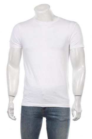Мъжка тениска Pier One, Размер S, Цвят Бял, Памук, Цена 27,30лв.