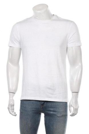 Мъжка тениска Pier One, Размер M, Цвят Бял, Памук, Цена 27,30лв.