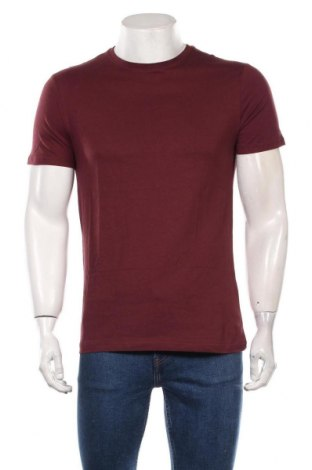 Мъжка тениска Pier One, Размер M, Цвят Червен, Памук, Цена 27,30лв.