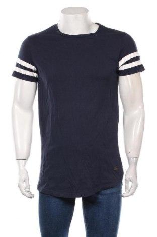 Мъжка тениска Produkt by Jack & Jones, Размер L, Цвят Син, Памук, Цена 17,85лв.