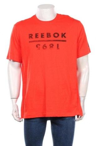 Мъжка тениска Reebok, Размер XL, Цвят Червен, Памук, Цена 18,00лв.