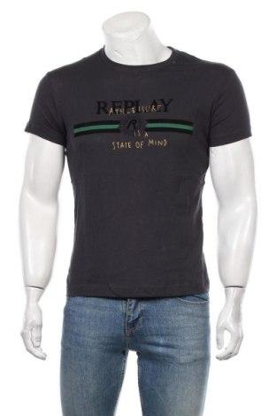 Tricou de bărbați Replay, Mărime S, Culoare Albastru, Bumbac, Preț 162,83 Lei