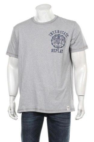 Мъжка тениска Replay, Размер XXL, Цвят Сив, Памук, Цена 42,00лв.