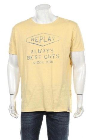 Мъжка тениска Replay, Размер XXL, Цвят Жълт, Цена 42,00лв.
