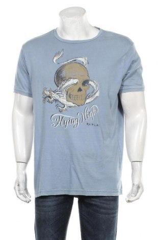Мъжка тениска Replay, Размер XXL, Цвят Син, Памук, Цена 46,00лв.