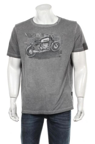 Мъжка тениска Replay, Размер XXL, Цвят Сив, Памук, Цена 43,00лв.