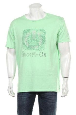 Мъжка тениска Replay, Размер XXL, Цвят Зелен, Памук, Цена 42,00лв.