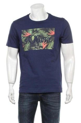 Мъжка тениска S.Oliver, Размер XL, Цвят Син, Цена 24,00лв.