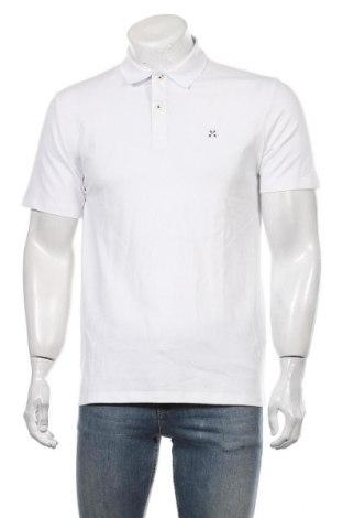 Мъжка тениска Selected Homme, Размер M, Цвят Бял, 95% памук, 5% еластан, Цена 44,10лв.