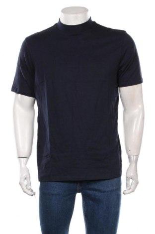 Мъжка тениска Topman, Размер L, Цвят Син, Памук, Цена 30,45лв.