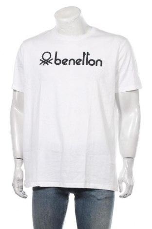 Tricou de bărbați United Colors Of Benetton, Mărime 3XL, Culoare Alb, Bumbac, Preț 103,62 Lei