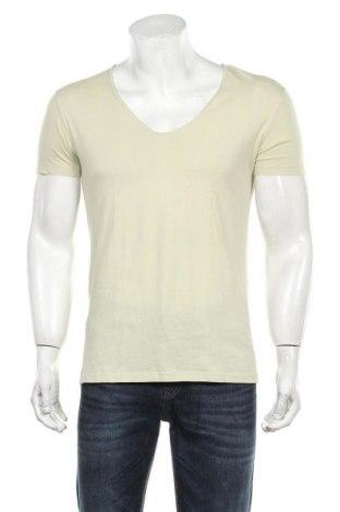 Мъжка тениска Zara, Размер M, Цвят Зелен, Памук, Цена 27,00лв.