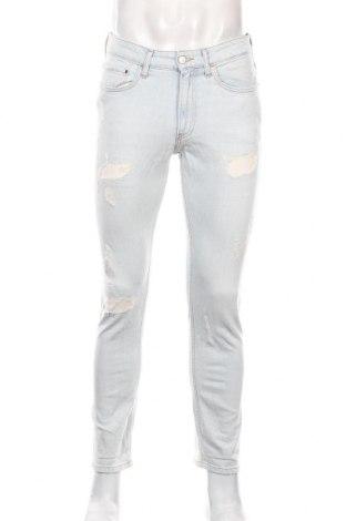 Мъжки дънки Calvin Klein Jeans, Размер M, Цвят Син, 98% памук, 2% еластан, Цена 32,40лв.