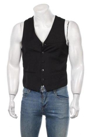 Мъжки елек H&M, Размер M, Цвят Черен, 75% полиестер, 25% вискоза, Цена 27,30лв.
