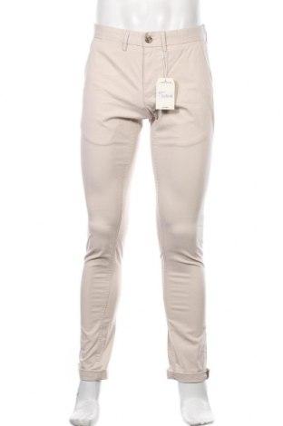 Pantaloni de bărbați Ben Sherman, Mărime M, Culoare Bej, 97% bumbac, 3% elastan, Preț 416,94 Lei