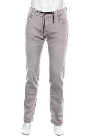 Pantaloni de bărbați Le Temps Des Cerises, Mărime M, Culoare Gri, 90% bumbac, 9% poliester, 1% elastan, Preț 170,23 Lei