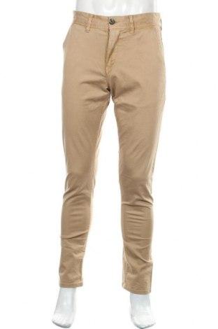 Pantaloni de bărbați Pepe Jeans, Mărime S, Culoare Bej, 97% bumbac, 3% elastan, Preț 416,94 Lei